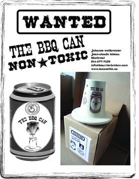 wanted the bbq can for cooking chicken on BBQ or oven the non-toxic way