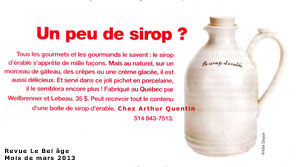 pichet à sirop d'érable/ mapple sirup bottle